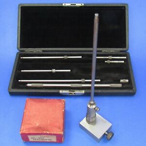 Starrett 124 A Solid Rod Id Micrometer Set 447 Height Gage Att Machinist