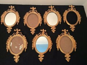 Lot Of 6 Victorian Small 6 X 4 Ornate Oval Picture Frames Made In Italy