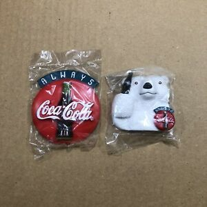 Lot Of Two Vintage Coca Cola Fridge Magnets Ad Sealed Mew From 1996 Rare!