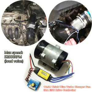 12v Car Electric Turbine Turbo Charger Boost Air Intake Fan Esc Drive Controller