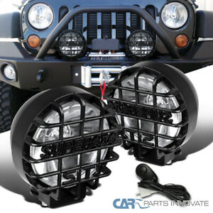 2pcs 6 Round Black Offroad Super 4x4 Work Fog Light Lamps Wiring Relay Switch