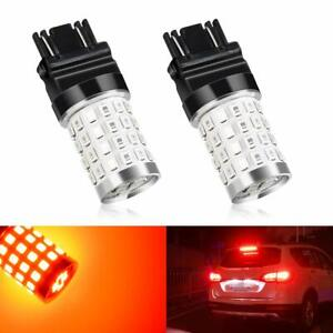 Marsauto 3157 3156 Red Led Turn Signal Brake Tail Stop Light Bulb Replacement