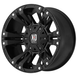 4 xd822 Monster 2 17x9 6x135 6x5 5 18mm Matte Black Wheels Rims 17 Inch