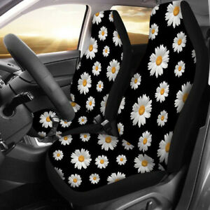 Small Daisies Seat Cover Set Front Integrated Bucket For Car Truck Suv Universal