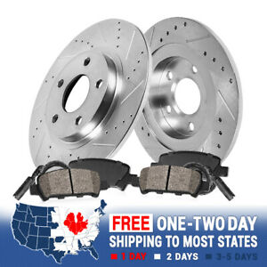 For Mercedes Benz C230 C320 Sport Rear Drill Slot Brake Rotors And Ceramic Pads
