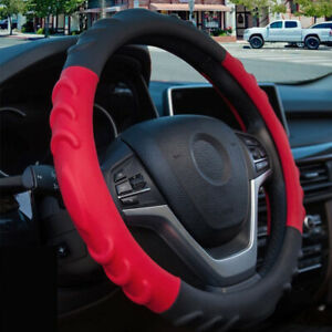 Car Steering Wheel Cover For Girl Non Slip Leather Pu Bump Design Breathable