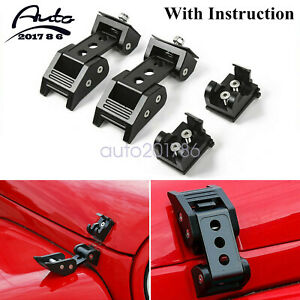 For Jeep Wrangler Jk Jl 2007 2019 Accessories Hood Latch Locking Catch Buckle Us