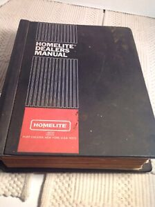 Homelite Textron Construction Equipment Dealers Manual 1976