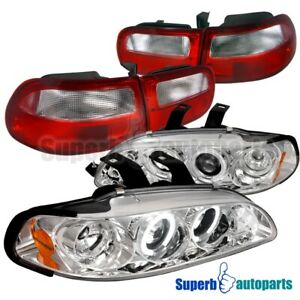 For 1992 1995 Civic 2dr Hb Led Halo Projector Headlight Tail Lamp