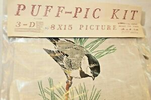 Puff pic Kit 3 d 8 X 15 Inch Picture Chickadee