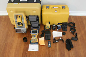 Topcon Ps 101a 1 Robotic Total Station Kit Fc 2600 Data Collector Rc 5 Magnet