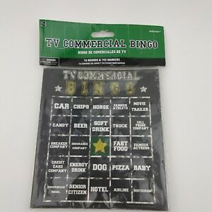 TV Commercial Bingo Game  Football Sports Theme  16 Boards & 192 Markers  New $9.67