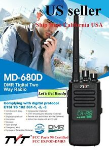 TYT MD-680D UHF DMRAnalog commercial two-way radio LED Active View  US Seller  $99.95