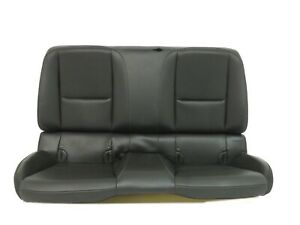 Chevy Camaro Coupe Black Leather Rear Seat 2010 2011 2012 2013 2014 2015