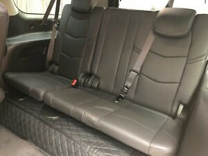 2019 Cadillac Escalade Third Row Seat Power Black Leather Fits 2015 2020