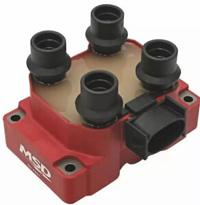 Msd 8241 Red Bolt on 4 tower Ignition Coil Pack For Mustang thunderbird V8 4 6l