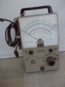 Heathkit Vtvm Model Im 18 With Cables probe Vacuum Tube Volt Meter Parts Only