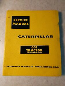 Caterpillar 631 Tractor Service Manual Cat Repair Book