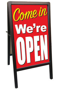Come In We re Open Sidewalk A frame Banner Sign Rb 172875