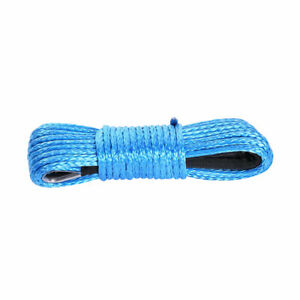 50ft 8mm 1 4 Nylon Synthetic Winch Line Cable Rope Fits Most Car Atv Blue