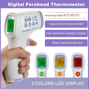 Infrared Thermometer Digital Led Forehead No touch Body Adult Temperature Lot