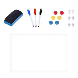 Self Adhesive Wall Whiteboard Decal Sticker Dry Erase Board For School Office
