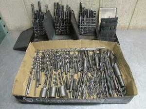 Large Lot Of Machinist Drill Bits Huot Drill Index Case Drill Bit Holder