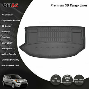 Omac Premium Upper Cargo Trunk Liner Black For Kia Soul 2010 2013