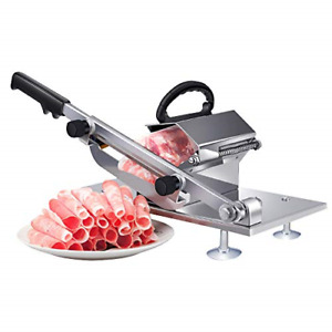 Manual Frozen Meat Slicer Stainless Steel Meat Cutter Beef Mutton Roll Food S