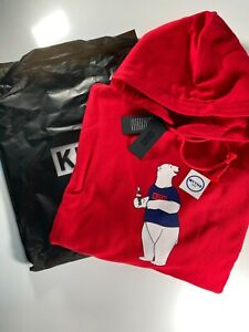 Kith NYC Coca Cola Polar Bear Red Blue Hoodie Sweater Limited Mens Size 2XL New
