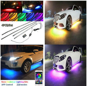 Colorful Chassis Lamp Flexible 5050 Smd 210 Model Led Strip W phone App Control