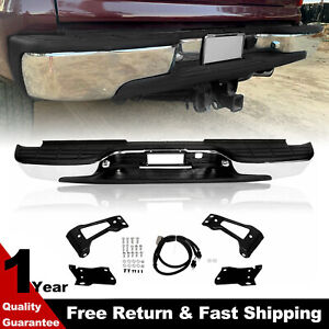 Complete Chrome Rear Step Bumper For 1999 2007 Chevy Silverado 2500 Hd 3500