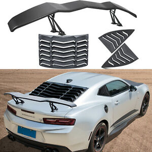 Rear Side Window Louvers Trunk Spoiler For Chevy Chevrolet Camaro 2010 2015