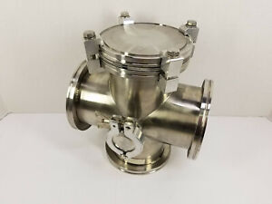 Nor Cal Vacuum 5 way Cross Reducer Iso100 k Flange To Kf25 Flange 8 L