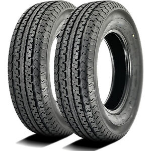 2 New Loadmaxx St Trailer St 235 85r16 132 127l G 14 Ply Trailer Tires