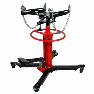 1100lbs 2 Stages Hydraulic Transmission Jack With 360 Swivel Wheels Lift Hoist