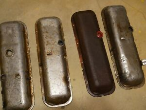396 427 454 Oem Big Block Chevy Valve Covers Drippers Corvette 4 Covers One