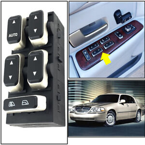 Master Power Window Door Switch For 2003 2006 2007 2008 Lincoln Town Car New