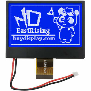 2 7 Inch Blue Spi Cog 128x64 St7565 Lcd Display Emc And Esd Protection