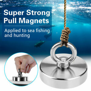 352 Lbs Recovery Super Strong Neodymium Fishing Magnet Power Pulling Force Usa