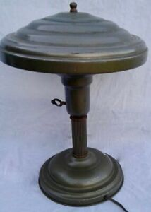 1930s Art Deco Metal Table Lamp Works