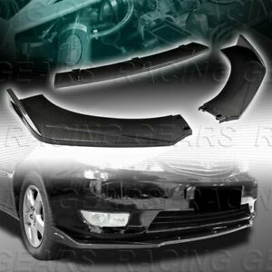 Universal Carbon Style Front Bumper Lower Body Kit Splitter Spoiler Lip 3 Pcs