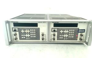 Wavetek Model 271 Pulse Generator Dual Rack Mount Combo tested