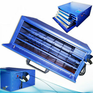 800w 4 Layers Silk Screen Printing Drying Cabinet Warming Exposure Unit Us