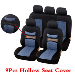 Jacquard Bird Eye Fabric 5 Seats Car Hollow Seat Covers For Interior Accessories