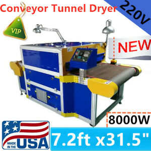 220v 8kw Screen Printing Conveyor Tunnel Dryer 7 2ft X 31 5 Oven Drying Tunnel