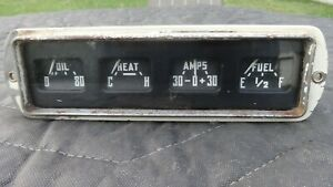 Vintage 1954 1955 1956 Dodge Truck Instrument Cluster Gauges Oil Heat Amps Fuel