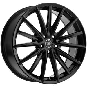 4 platinum 461bk Exodus 17x8 5x112 40mm Gloss Black Wheels Rims 17 Inch