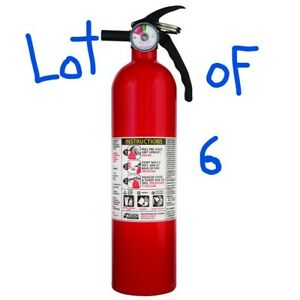 Lot Of 6 Kidde 1a10bc Basic Use Fire Extinguisher 2 5 Lbs 6 Pack