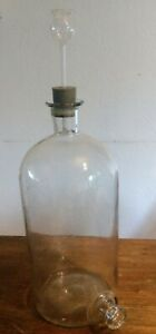 Bottle D Apothecary Antique Laboratory Chemistry Pharmacy Xix Th Century